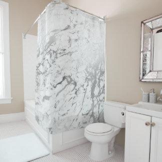 Cortina Para Box Cinzas de prata brancas de Carrara do abstrato de