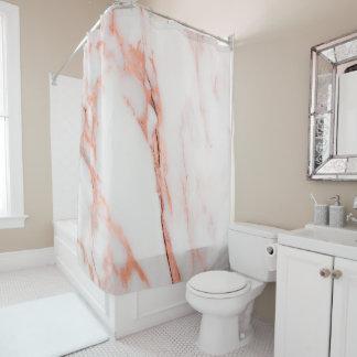 Cortina Para Box Cobre cor-de-rosa do ouro do coral branco de