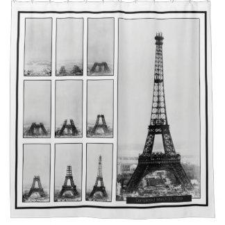 Cortina Para Box Construção da torre de Gustavo Eiffel em Paris