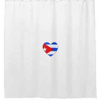 Cortina Para Box Coração da bandeira de Cuba