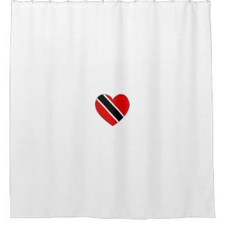 Cortina Para Box Coração da bandeira de Trinidad and Tobago