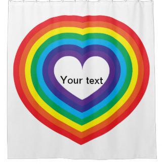 Cortina Para Box Coração do arco-íris