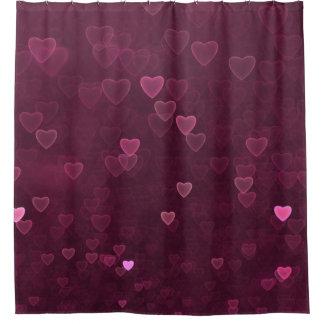Cortina Para Box Corações cor-de-rosa de Bokeh