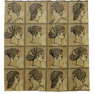 Cortina Para Box Cortina de chá antiga antiga das mulheres gregas
