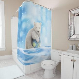 Cortina Para Box Cortina de chá ártica do mundo do urso polar