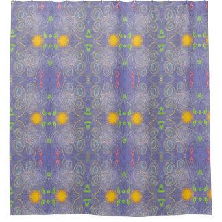 Cortina Para Box Cortina de chá azul da arte abstracta do céu da