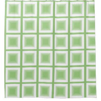 Cortina Para Box Cortina de chá - blocos do verde