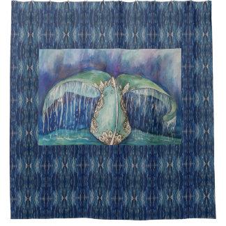 Cortina Para Box cortina de chá da cauda da baleia