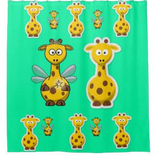 Cortina Para Box Cortina de chá do girafa para a parte traseira da