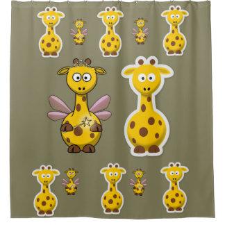 Cortina Para Box Cortina de chá do girafa para a parte traseira do