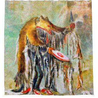 Cortina Para Box Cortina de chá do nativo americano do dançarino do