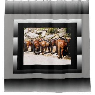 Cortina Para Box Cortina de chá dos cavalos da fuga