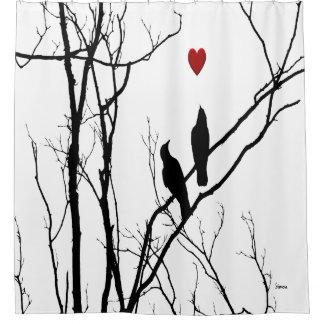 Cortina Para Box Cortina de chá dos pássaros do amor