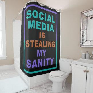 "Cortina Para Box ""Cortina de chá engraçada dos meios sociais"""