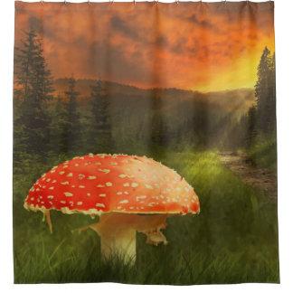 Cortina Para Box Cortina de chá mágica do impressão da floresta