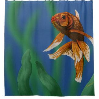 Cortina Para Box Cortina de chá nadadora do peixe dourado