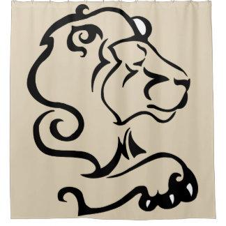 Cortina Para Box Cortina de chá selvagem do leão