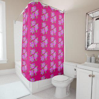Cortina Para Box Cutain florescido cor-de-rosa fúcsia