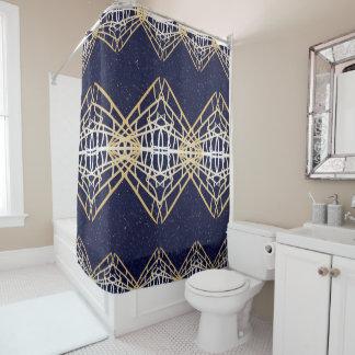 Cortina Para Box Decoração moderna geométrica do banheiro das