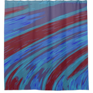 Cortina Para Box Design azul moderno do abstrato da cor vermelha
