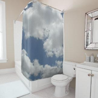 Cortina Para Box Design do impressão da foto das nuvens do branco