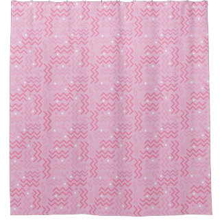 Cortina Para Box Design Funky de Memphis do rosa Pastel