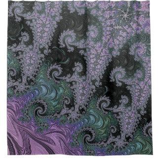 Cortina Para Box Design roxo do banheiro da cortina de chá do