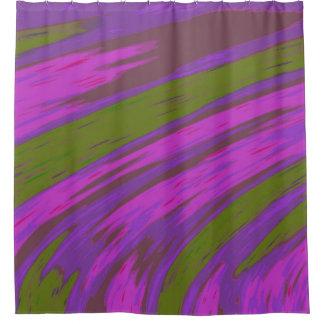 Cortina Para Box Design roxo moderno do abstrato da cor verde