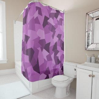 Cortina Para Box Duschvorhang com modelo abstracto em lilás
