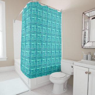 Cortina Para Box Efeito dos azulejos do Aqua