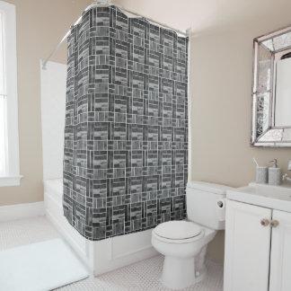 Cortina Para Box Efeito preto e branco dos azulejos