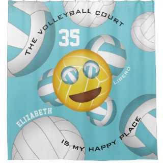 Cortina Para Box Emoji feliz do vball do smiley do lugar da corte