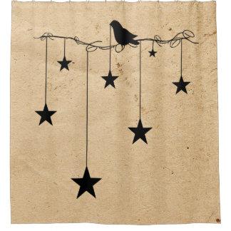 Cortina Para Box Estrelas e cortina de chá de suspensão do corvo