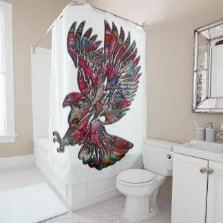 Cortina Para Box Falso abstrato Eagle tribal metálico