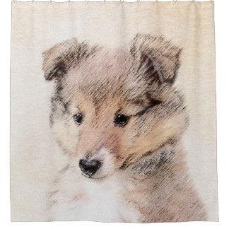 Cortina Para Box Filhote de cachorro do Sheepdog de Shetland