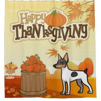 Cortina Para Box Fox feliz Terrier do brinquedo da acção de graças