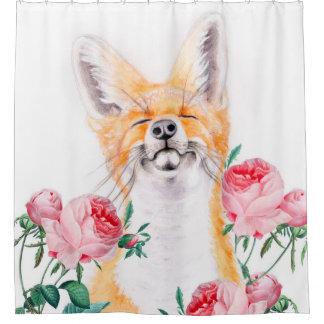 Cortina Para Box Foxy feliz e rosas