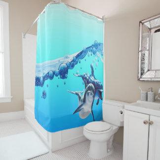 Cortina Para Box golfinhos com onda