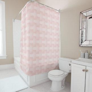 Cortina Para Box Gradação geométricas cor-de-rosa mergulhadas