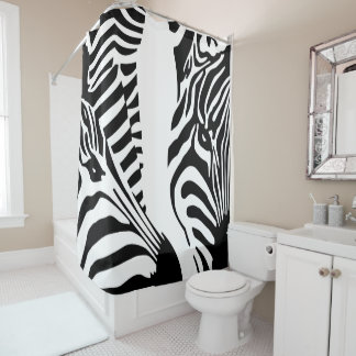 Cortina Para Box Grandes caras modernas da zebra