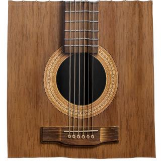 Cortina Para Box Guitarra acústica de madeira morna