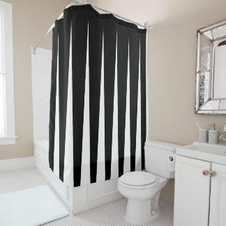 Cortina Para Box Ilusão preto e branco do plissado de dois tons
