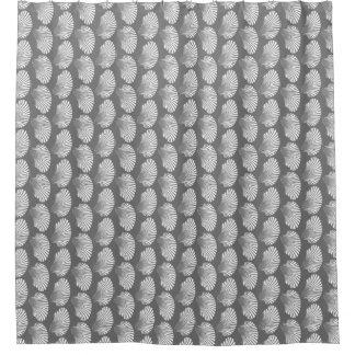 Cortina Para Box Impressão, cinzas/cinza e branco de bloco de Shell