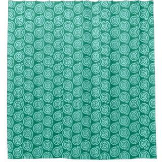 Cortina Para Box Impressão de bloco do Seashell, turquesa e Aqua