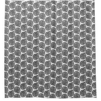 Cortina Para Box Impressão de bloco espiral do Seashell, preto e
