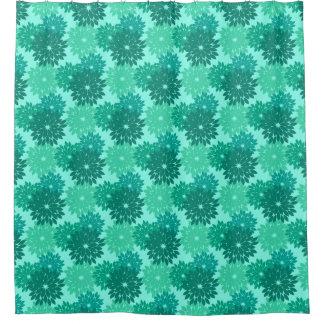 Cortina Para Box Impressão, turquesa, cerceta & Aqua florais