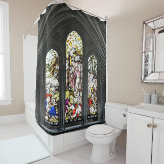 Cortina Para Box Janela de vitral de Transept da catedral de
