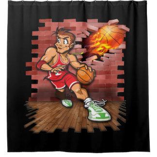 Cortina Para Box Jogador de Basketbll