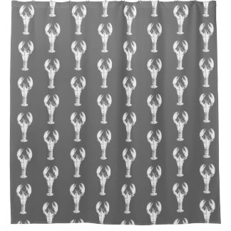 Cortina Para Box Lagosta branca em cinzento/cinza