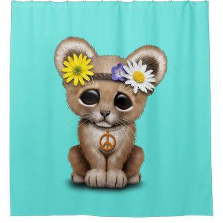 Cortina Para Box Leão bonito Cub do Hippie